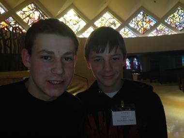 Two teenaged men
